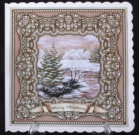 Christmas Trees 4 - 7 Inch Square Mini Kit in Card Gallery