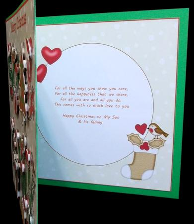 Blank Insert for 8x8 Gingerbread Christmas Son & Family in Card Gallery