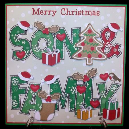8x8 Gingerbread Christmas Son & Family in Card Gallery