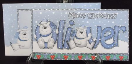 Christmas Oliver Polar Bears Money or Gift Wallet Card Kit in Card Gallery