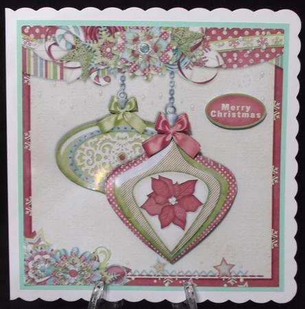 Christmas Baubles Red Green 495 in Card Gallery