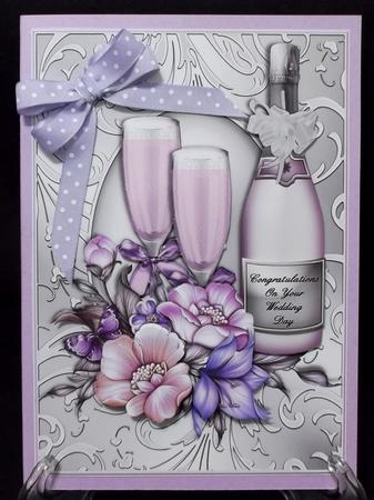 Card Gallery - Congratulations Champagne Wedding Day/Anniversary card front