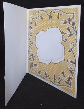 Borange Dotty Fancy 8in x 8in Square Insert Panel in Card Gallery
