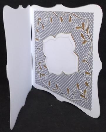 Black Dotty Fancy 8in X8in Square Insert Panel in Card Gallery