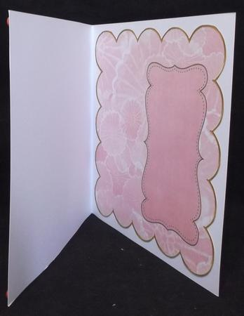 Pink Oriental Lotus Coloured 8in Scallop Insert Panel in Card Gallery