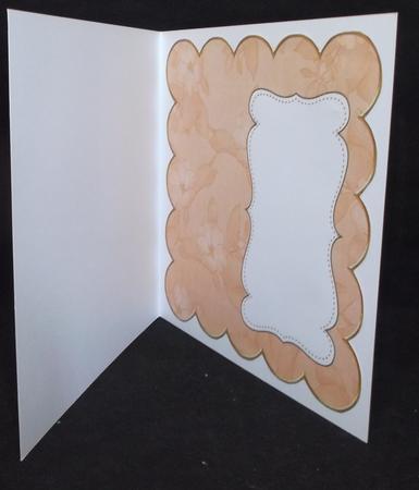 Borange Apple Blossom Plain 8in Scallop Insert Panel in Card Gallery