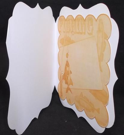 Borange Fishing 8in Scallop Card Insert Panel Sheet in Card Gallery