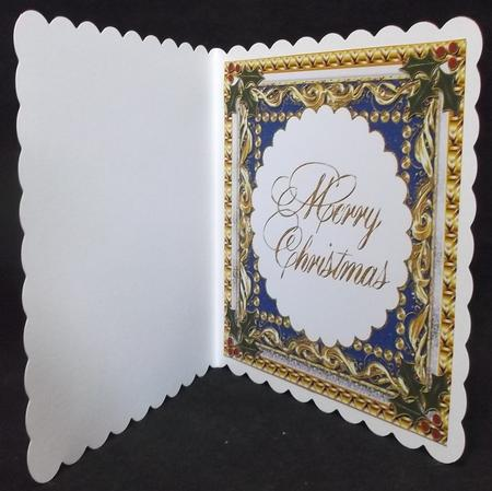 Large Fancy Christmas Insert 5 in Card Gallery