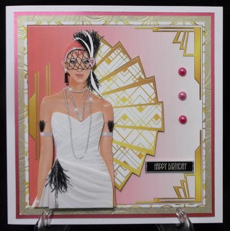 Stunning Flapper Lady No 25 Mini Kit in Card Gallery