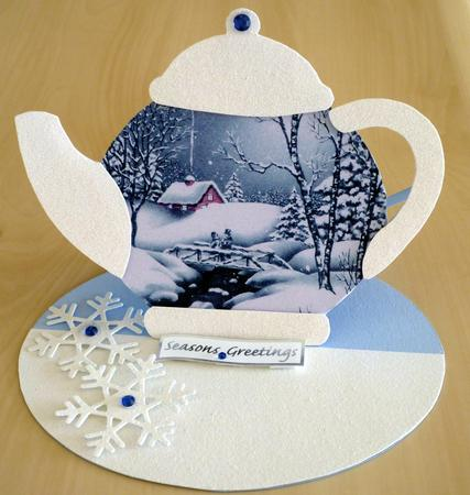 Card Gallery - Teapot easel card template