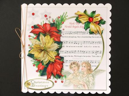Card Gallery - 8x8 hark the herald angels sing mini kit
