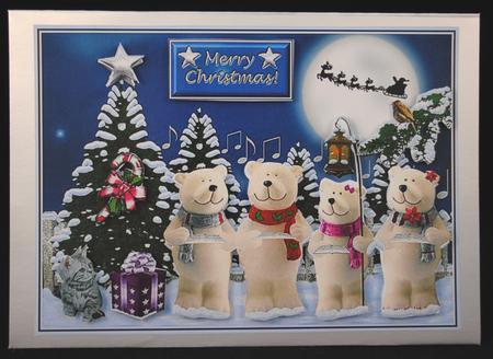 Card Gallery - Introducing The Polar Bear Caroling Quartet!