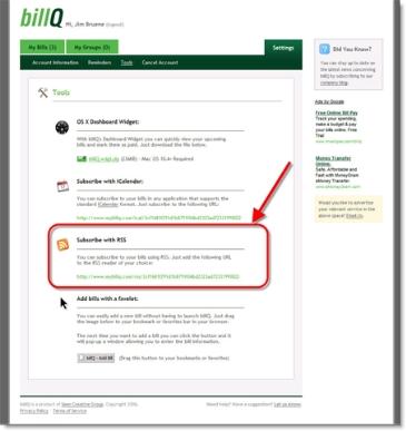 billQ bill subscription options CLICK TO ENLARGE