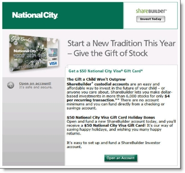 National City Sharebuilder landing page CLICK TO ENLARGE