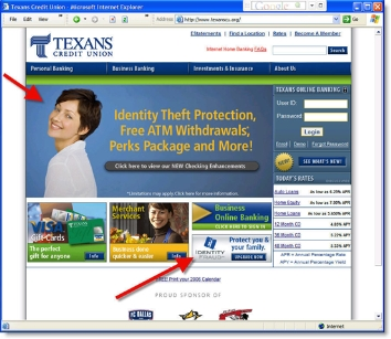 Texans CU home CLICK TO ENLARGE
