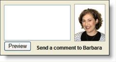 Comment input box at Wells Fargo blog, Student LoanDown