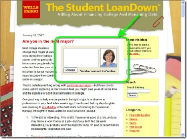 Wells Fargo Student LoanDown blog CLICK TO ENLARGE