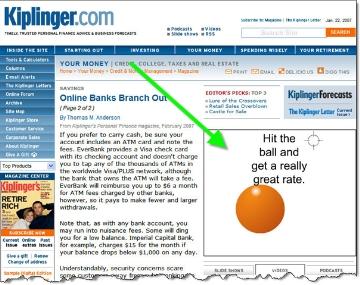 WT Direct ad on Kiplinger.com CLICK TO ENLARGE