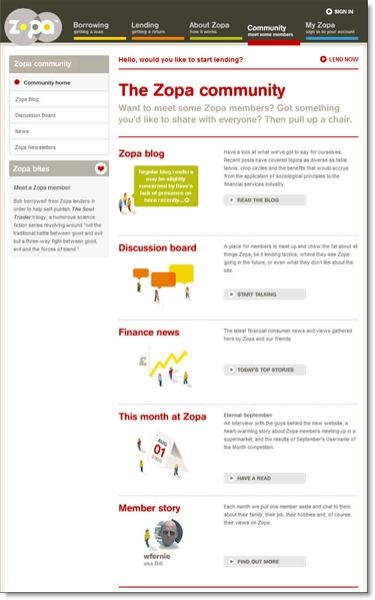 Zopa vmain community page CLICK TO ENLARGE