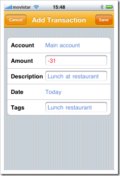 Moneytrackin iphone app for personal finance management 30 Sep 2008
