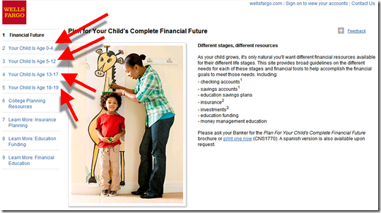 Wells Fargo's offers up solutions for four age groups (18 July 2011)