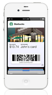 "Starbucks ""card"" in Apple's Passbook"