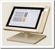 Tinkering Monkey iPad holder at the POS
