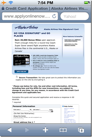 2. BofA credit card solicitation on page 2 of the login process
