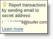 Buxfer email transaction entry