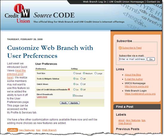 UW Credit Union blog