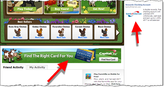5. Another Capital One banner ad served while playing Farmville