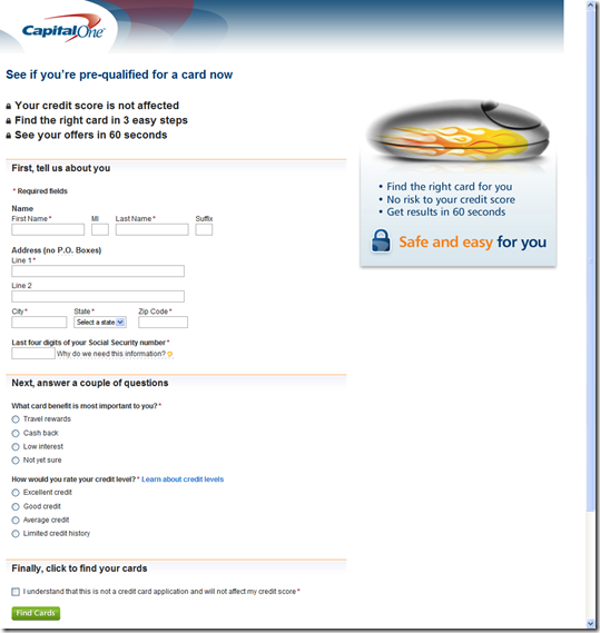 Account opening archives page 3 of 5 finovate capital one prequalification form reheart Choice Image