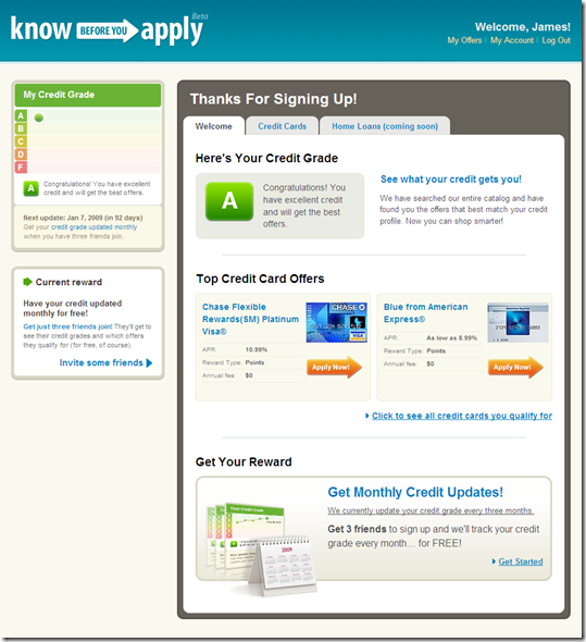 Know Before You Apply homepage (7 Oct 2008)