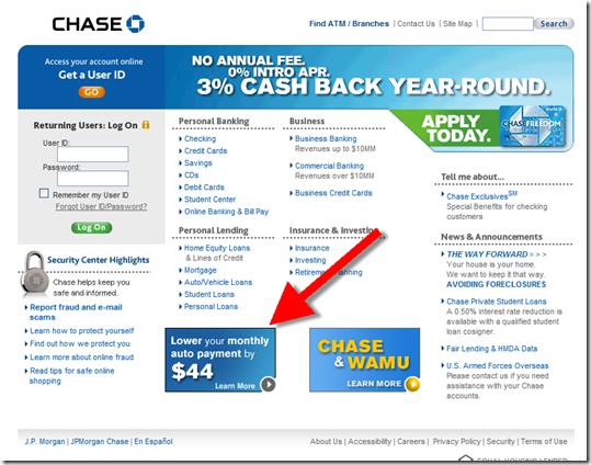 Auto refinance chase 15