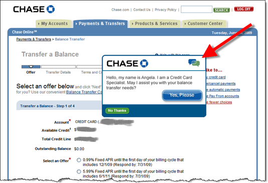Chase Online