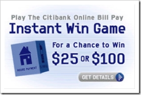 Ad on Citibank's Online Banking page