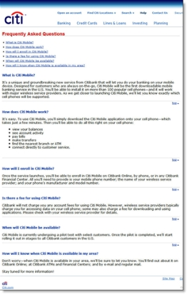 Citi Mobile U.S. FAQs