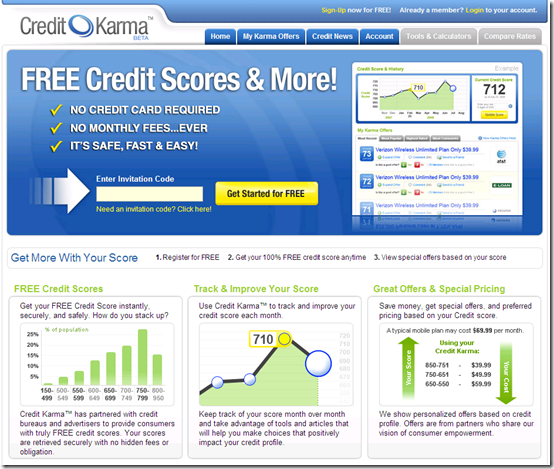Credit Karma homepage