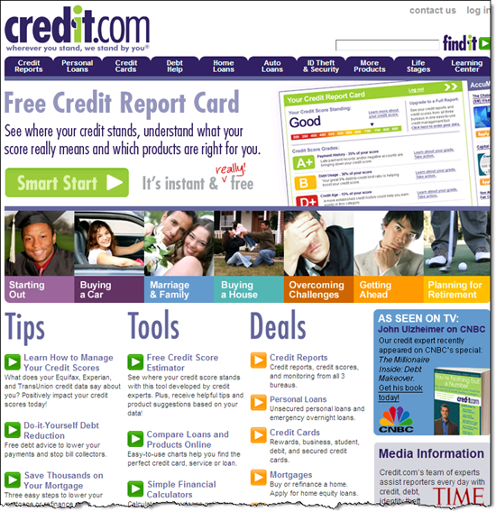 Credit.com credit report card