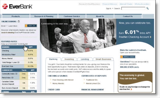 New Everbank homepage coming 20 May 2007