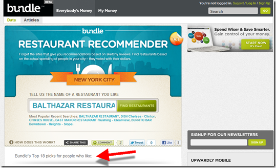 Bundle Restaurant Recommender (16 Dec 2010)