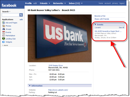 US Bank's Beaver Valley branch Facebook page