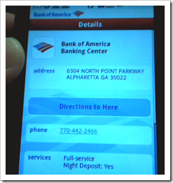Bank of America Google Android G1 App more info (22 Oct 2008)