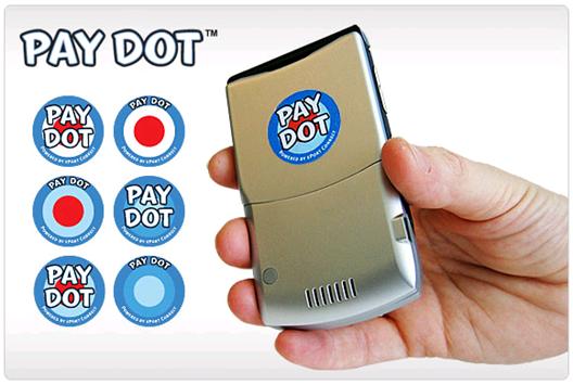 USA Technologies Pay Dot contactless payment sticker