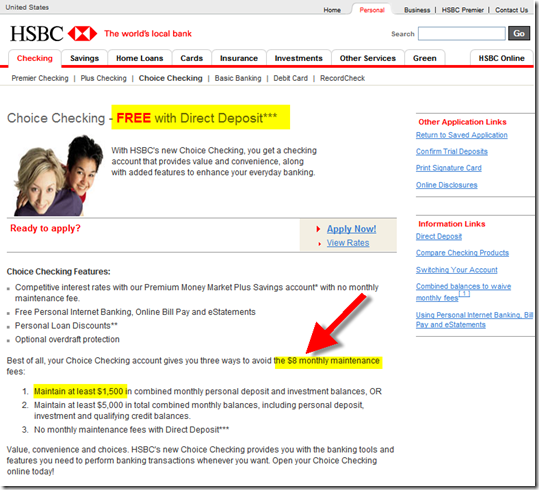 HSBC Checking Account Upsell - Finovate