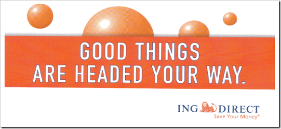 ING Direct Seattle mailer front