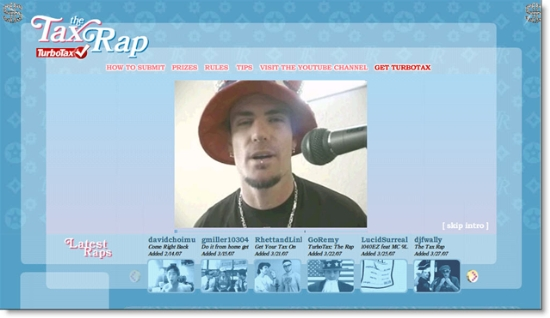 Turbotax rap home page at Intuit