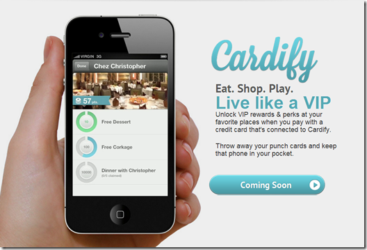 cardify app as seen on its homepage