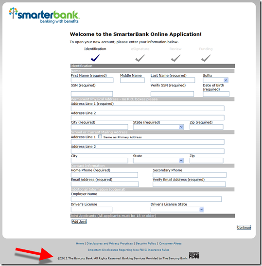 Smarterbank application powered by The Bancorp Bank