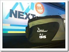 ISIS brand on NRF convention bag